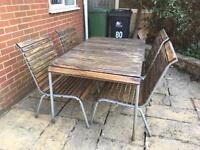 John Lewis Hardwood Garden Furniture Table & 6 Chairs & Love Seat Cost £1200