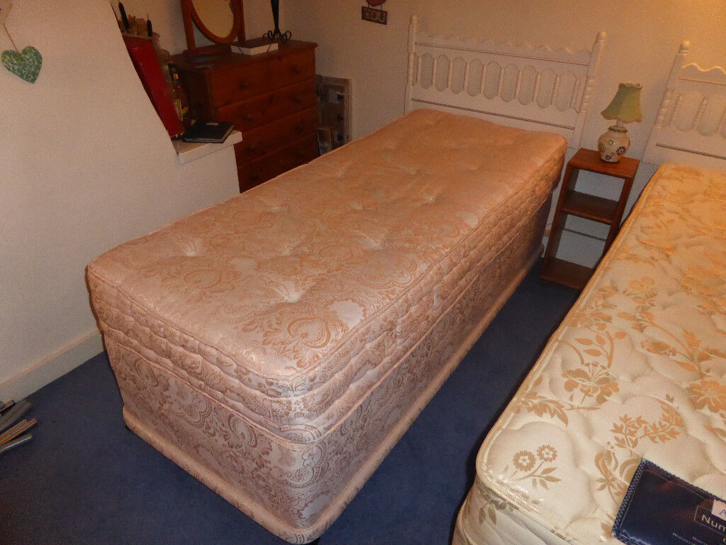 2 Foot 6 Inch Single Bed With Mattress And Headboard