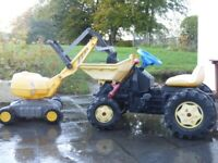 Rolly Toys Ride On Dump Truck and Mini Excavator