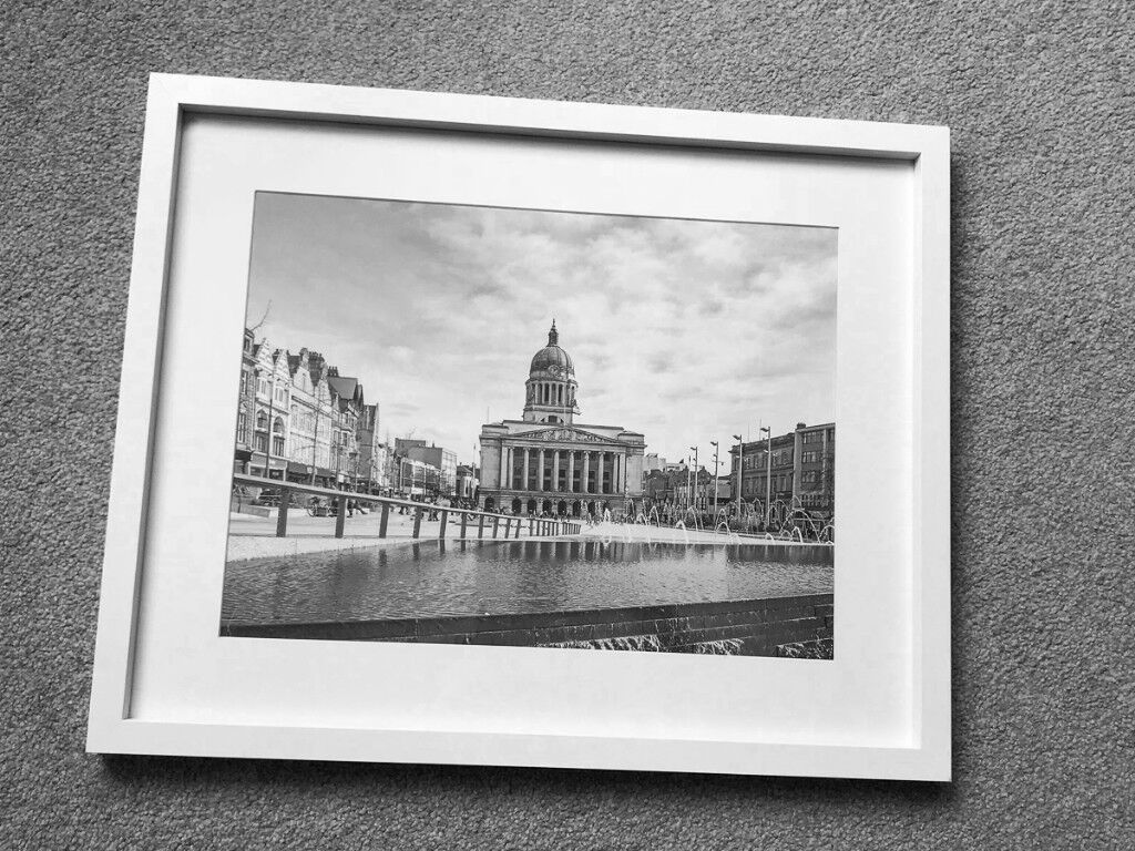 Nottingham Old Market Square & Council House | Black & White Framed ...