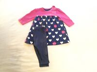 Girls tunic and leggings 0-3 months, mothercare