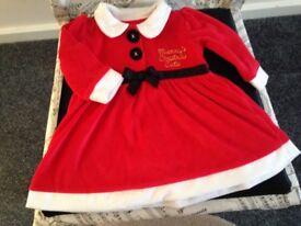 Baby girls Christmas dress & tights