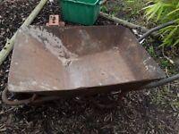 Heavy duty builders wheelbarrow, as seen, metal, large