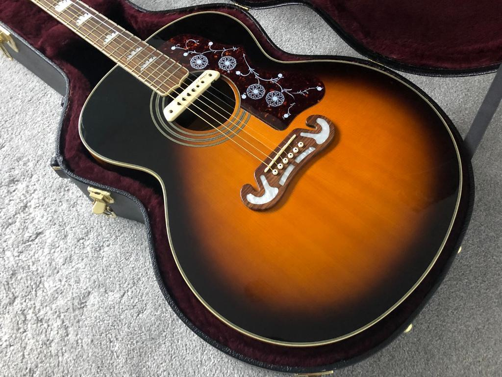 epiphone ej200 acoustic guitar and hard case with lr baggs m1a in cowdenbeath fife gumtree. Black Bedroom Furniture Sets. Home Design Ideas