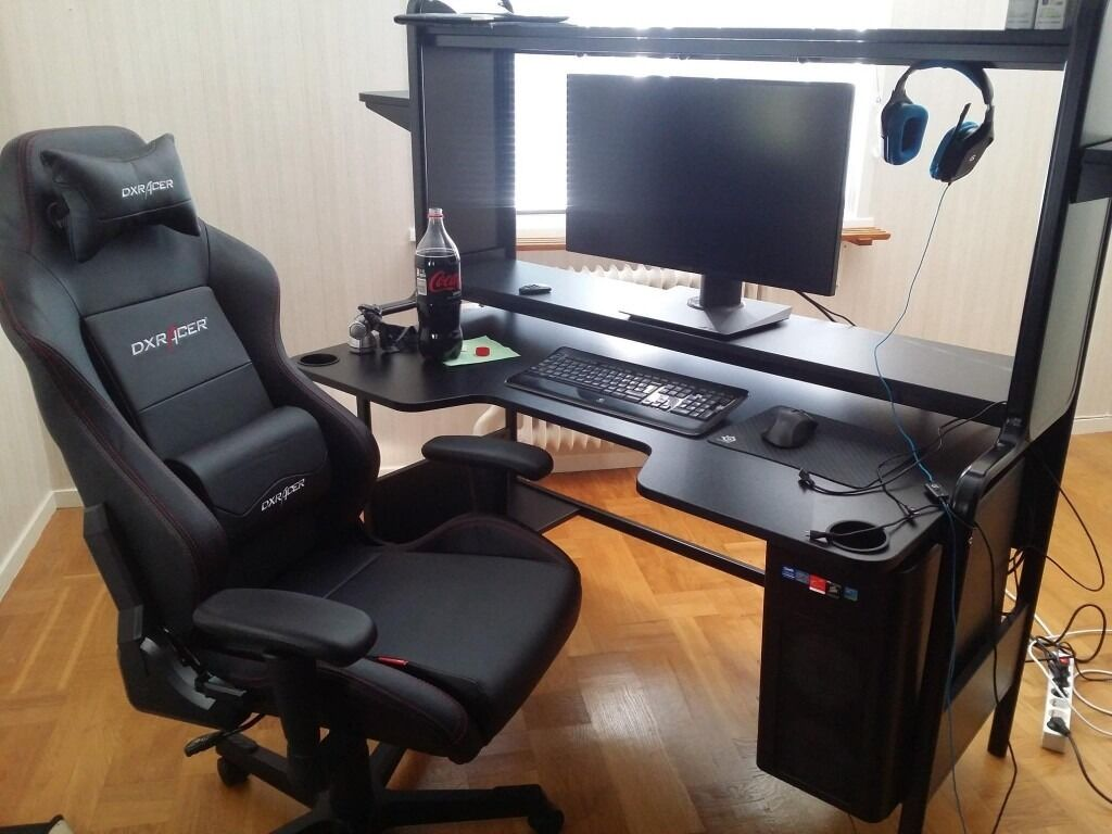 Black Ikea Gaming Desk Large In Milton Keynes Buckinghamshire