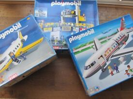 Playmobil 3186 3185 4310 Airport & Planes - boxed complete sets