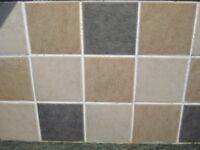 9 boxes of unused 100cm x 100cm Ceramic Tiles - 25 tiles each box - 3 boxes of each colour
