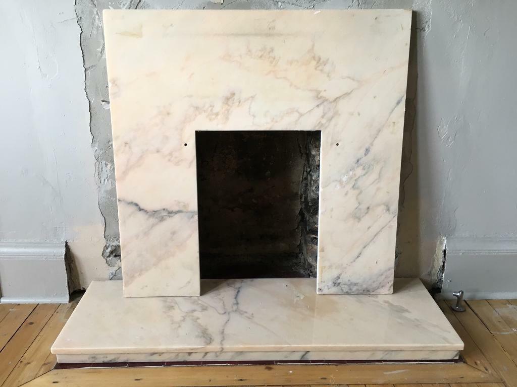 pink marble fireplace surround in leith edinburgh gumtree