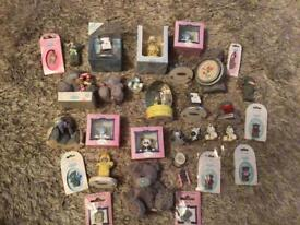 Me To You items over 30 incl ornaments & a clock all excellent condition some as new in pack/ box