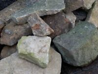 Selection of clean rokery stones.