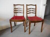 Two retro wooden chairs