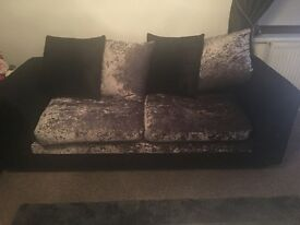 2 & 3 crush velvet sofas , very elegant , only 3 months old. , perfect condition only £275.00
