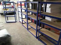 6 x Garage storage blue shelves for sale