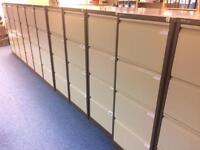 13 - TOP QUALITY BISLEY FILING CABINETS -COFFEE/CREAM -NOT NEW CHEAP TIN CANS U SEEIN STATIONERY CAT