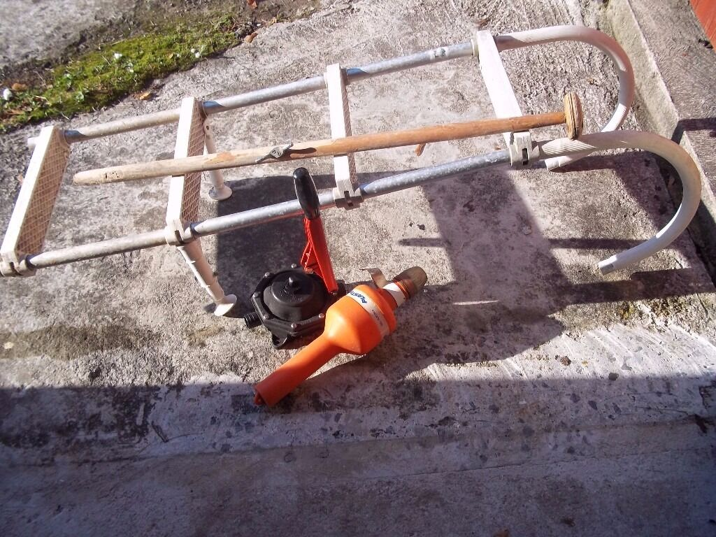 boat ladder and boat bitsin Saltash, CornwallGumtree - Boat bits to include ladder, emergency man overboard light pump (needs seal) and flagstaff