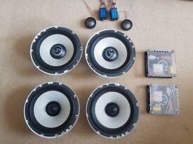 """4 x Bassface 6.5"""" Speakers + alpine tweeters"""