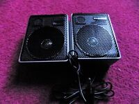 Two Murphy stereo speakers