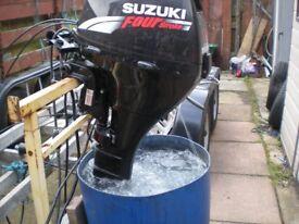 Suzuki 15 hp four stroke. Outboard. £1.150 Sale pending.