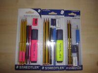 Staedtler Essentials (pink) & Student/school stationery sets x 3 - all brand new