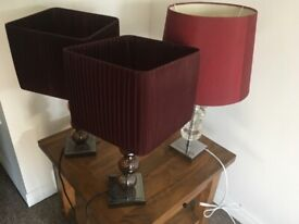 3 lamps for sale £30