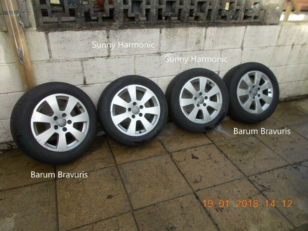 4 Audi Wheels 205/55 R16. From VW T4.