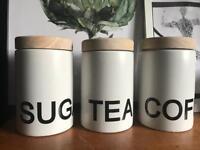 Coffee tea & sugar jars NEW