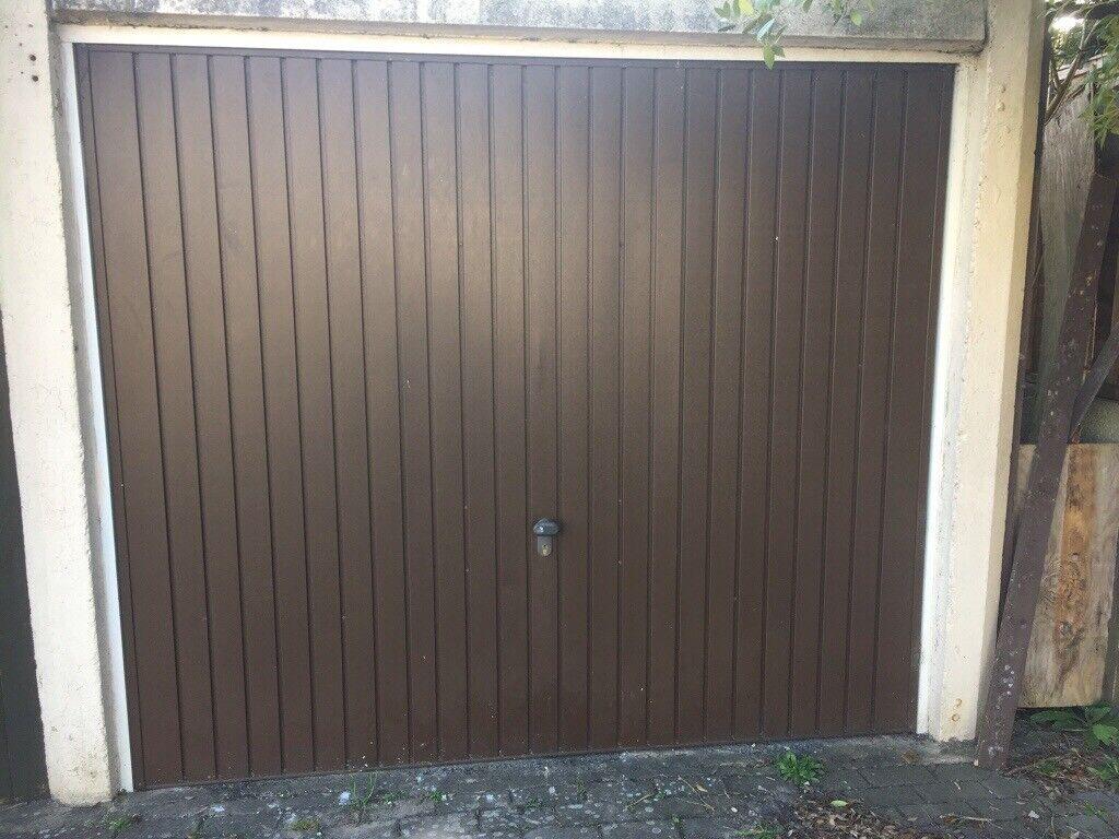 Garage Door Standard Size Powder Coated Aluminium Brown In