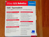US Robotics External 56K Message Modem.