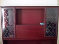 5 foot 3 inch x 6 foot wall display unit.