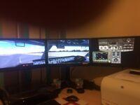 Trade 3 X ( Triple ) Monitor Setup on Triple Monitor Stand Swap