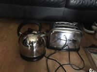 Chrome kettle and toaster for sale