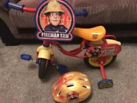 Fireman Sam bike with helmer