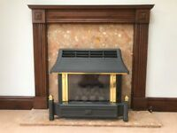 Complete, fire surround and Gas fire.