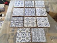 LOVELY BLUE WHITE VINTAGE TILES 15X15cm FOR WALL ONLY 5m2