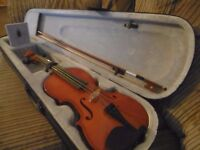 Violin with Hard Case, Bow & Rosin
