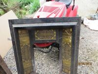Victorian cast iron fireplace insert