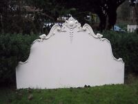 Victorian french armoire style shabby chic white bed headboard