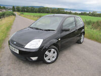 Ford Fiesta 1.2 Zetec Climate in Black FSH 8 stamps long MOT NOW ONLY £1725