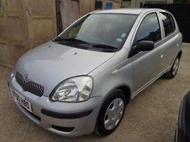 2005 Toyota Yaris T3 1.3 Petrol Silver 5 Door FSH Low Miles Long MOT & 3 Months Warranty