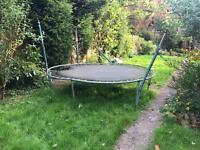 Extra large trampoline needs new mat.
