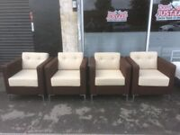 set of 4 boss design office chairs