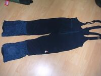 Mens ski trousers (salopettes) with free winter hat