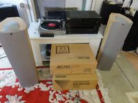 Hi-Fi Kenwood KA 3020se,Arcam Alpha Cd With Aiwa Turntable KEF Q3 floor standing Speakers