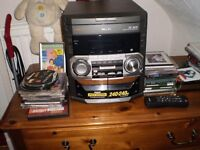 philips 3 disc stereo / tape and radio system.