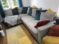 Corner Sofa with Warranty Against Stains and Damage