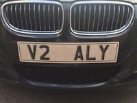 Private Personalised Registration Plate Reg Number V2 ALY