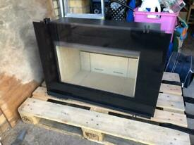 HWAM i30/55s Side Hinged 7kW (A+) DEFRA Approved Woodburning Inset Stove