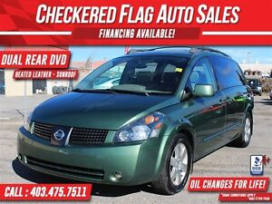 2004 Nissan Quest 3.5 SE-DVD-SUNROOFS-LEATHER-ONLY 157,000km