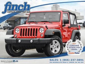 2014 Jeep Wrangler Sport/AC/SOFT TOP/1-OWNER/MANUAL