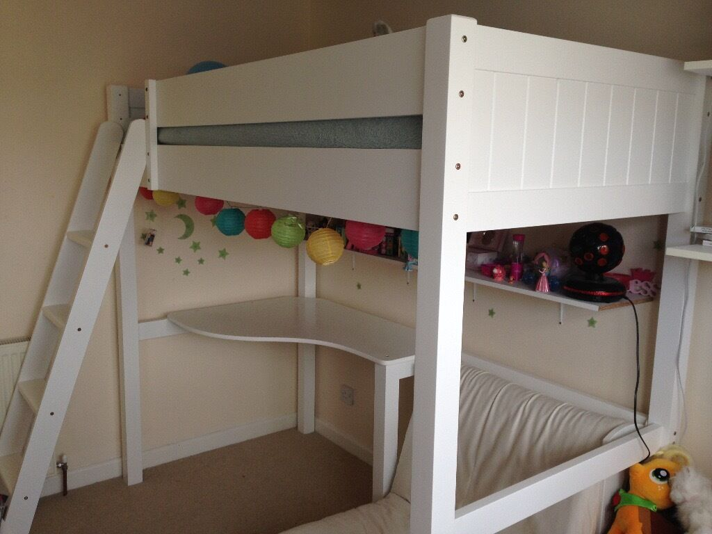 aspace warwick high sleeper bed with futon in exeter